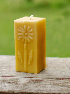 Beeswax Candle Daisy